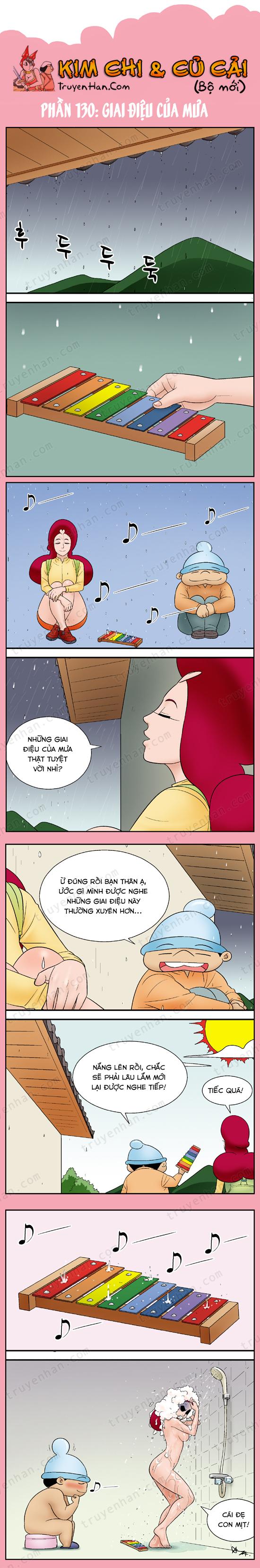 Kim Chi & Củ Cải (bộ mới) phần 130: Giai điệu của mưa