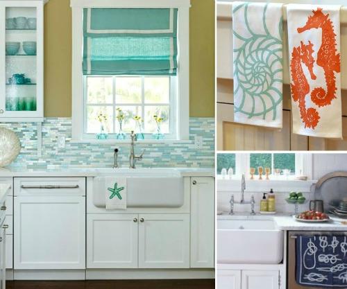 Coastal Kitchen Towels  Coastal Decor Ideas and Interior