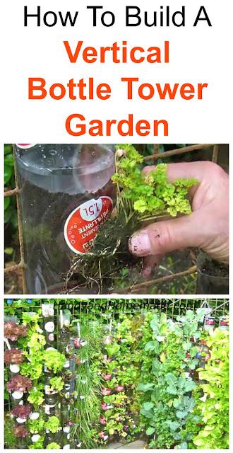 How To Build A Vertical Bottle Tower Garden Diy Handy