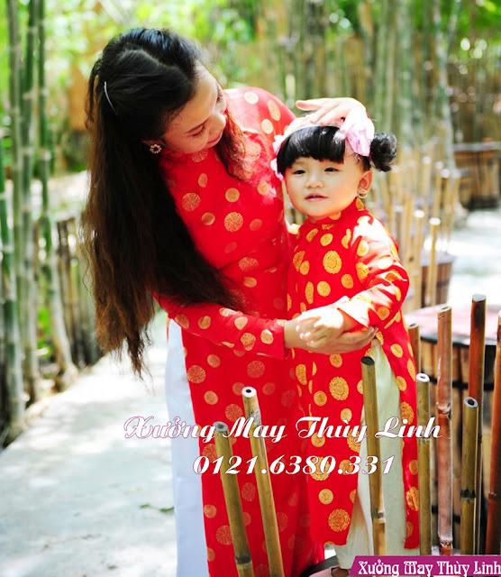 May áo dài trẻ em ở Hà Nội