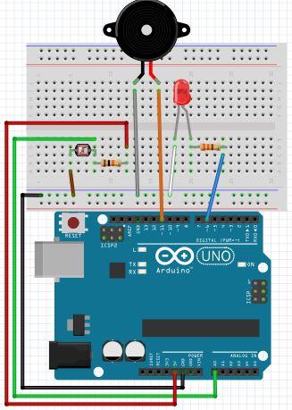 Sengkang ALP: Lesson 6 - Activity 4 (Automated Light (LDR) & Buzzer )