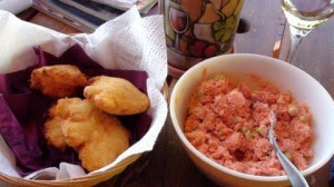 Bannock and Salmon SaladRecipe