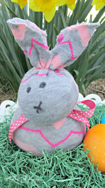 An easy and fun craft - DIY No Sew Bunny with Essential Oils