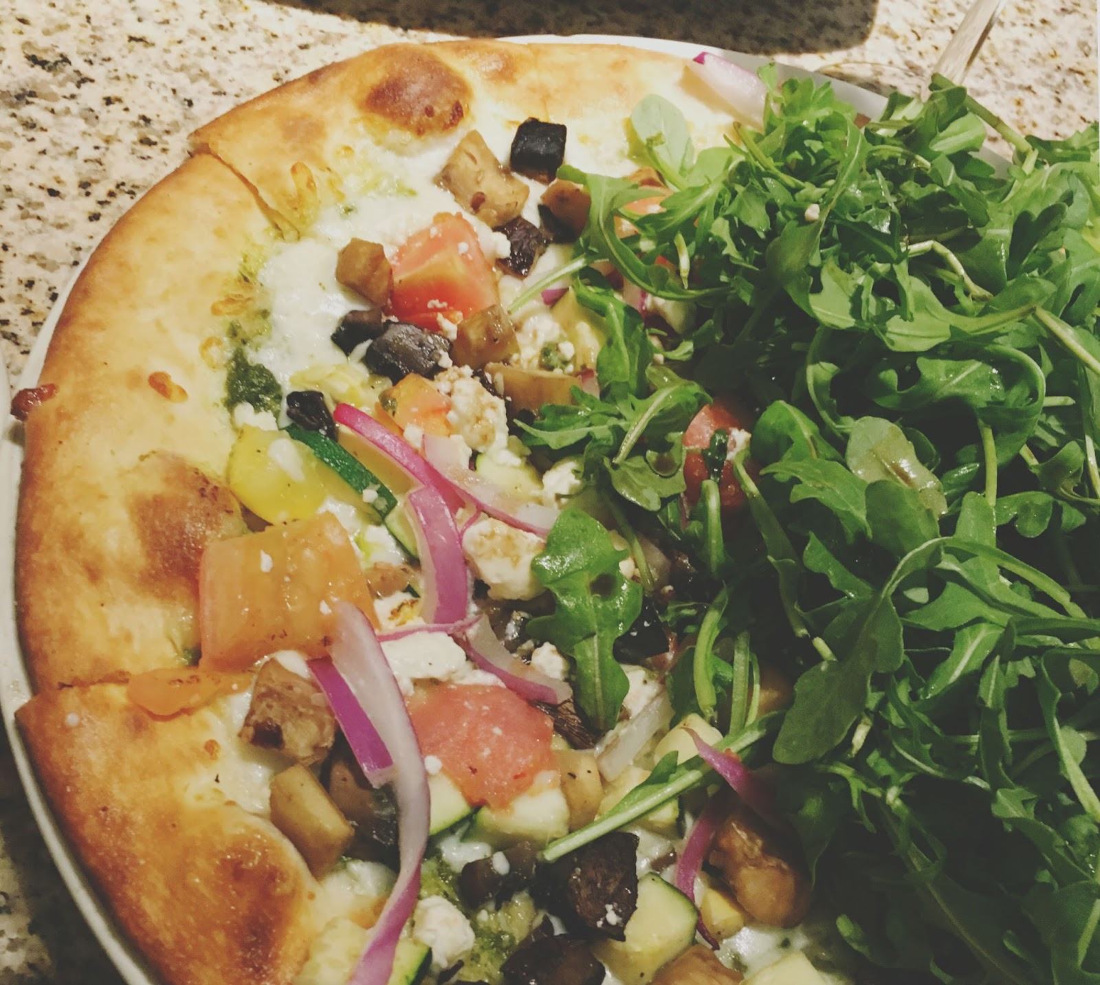 local veggies pizza at Ruggles Green - A restaurant in Houston, Texas