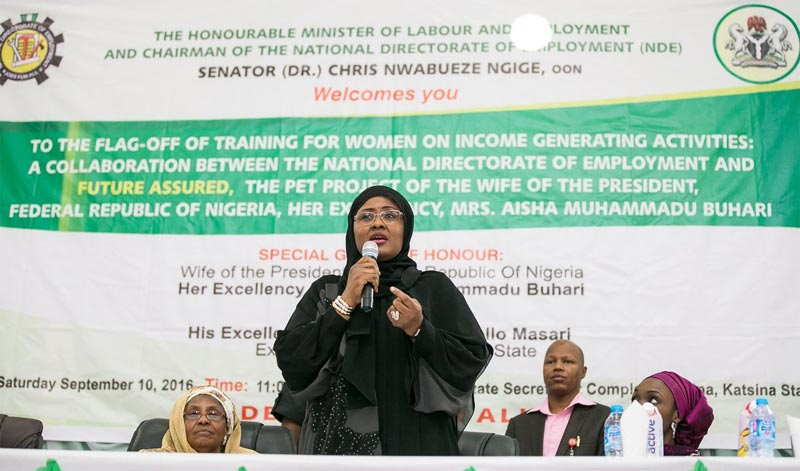 Aisha Buhari commissions Future Assured, revenue programme for women