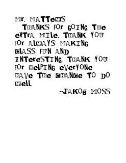 Moss Moments: simple teacher thank you.