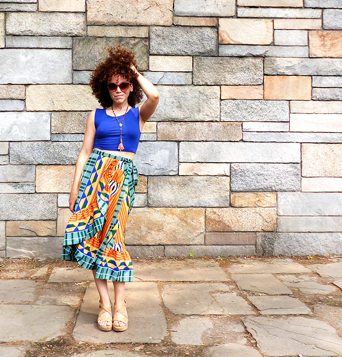 McCalls 7745: The ¡Ay, Caramba! Kente Skirt