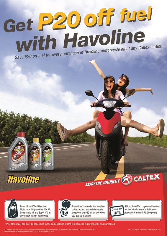 Havoline Motorcycle Oil Promo