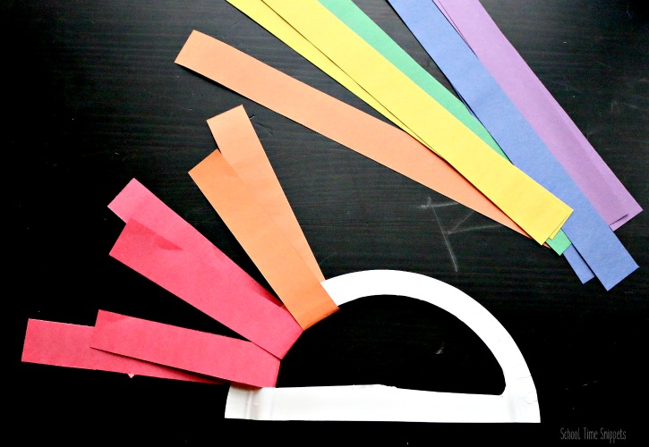 paper rainbow craft for kids