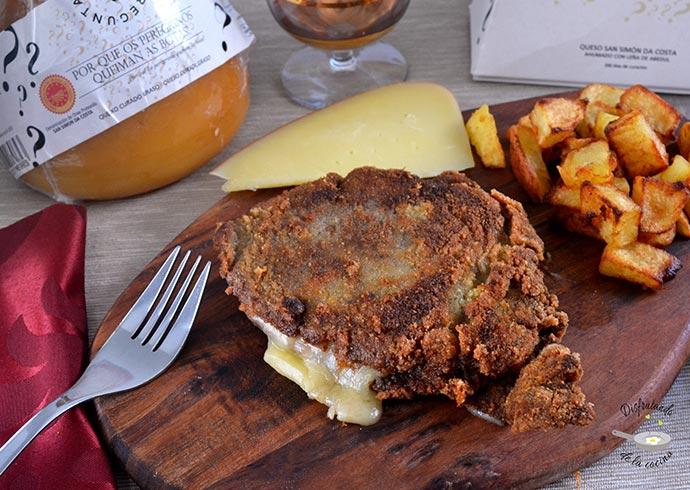 Cachopo asturiano relleno de jamón y queso de tetilla (Receta fácil)