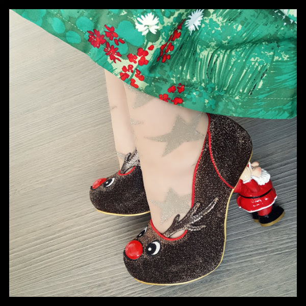 wearing irregular choice santa's ninth shoes