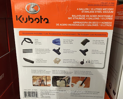 Kuboto Wet/Dry Stainless Steel Vacuum – Compact enough but powerful