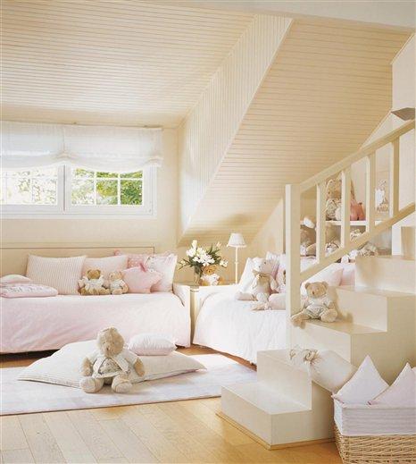 Casa tr s chic quartos para irm os - Camas infantiles blancas ...