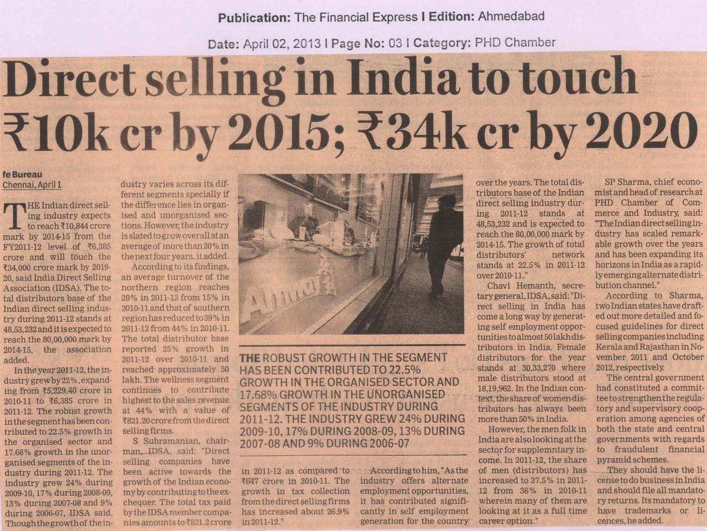 Direct Selling Industry expected to reach INR 3,40,000 Million by