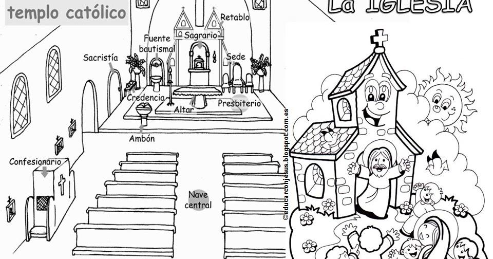 Matrimonio Catolico Para Dibujar : Educar con jesús la iglesia nos espera