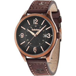 Timberland Mens Blake Brown Leather Strap Watch 14645JSQR/02