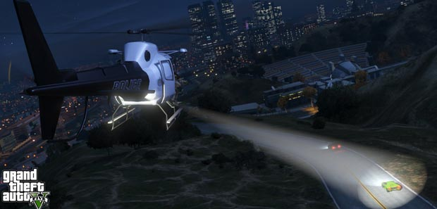GTA 5 Helicopter Searchlights Tip