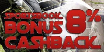 Banner Bonus 8% CashBack Sportbook