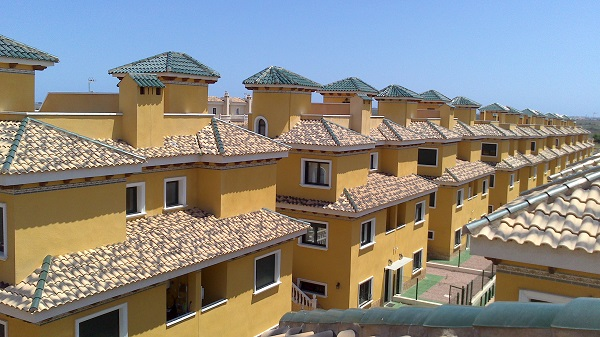 Vista de los chalets de alquiler de nuestra urbanización privada en Ciudad Quesada