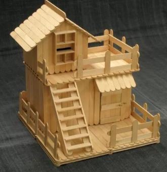Kerajinan Rumah Dari Stik Simple - Aristek Sederhana