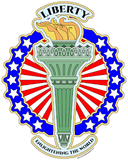 Liberty's Torch- coloring page to print and color