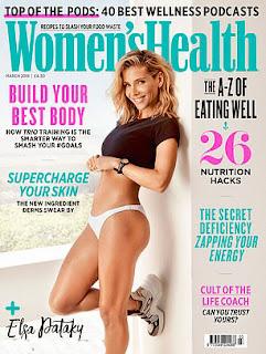 Elsa Pataky at Women's Health UK Magazine, March 2019 Issue
