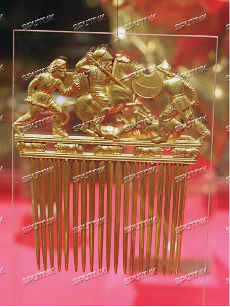 Золотой гребень скифов на выставке в ГИМ