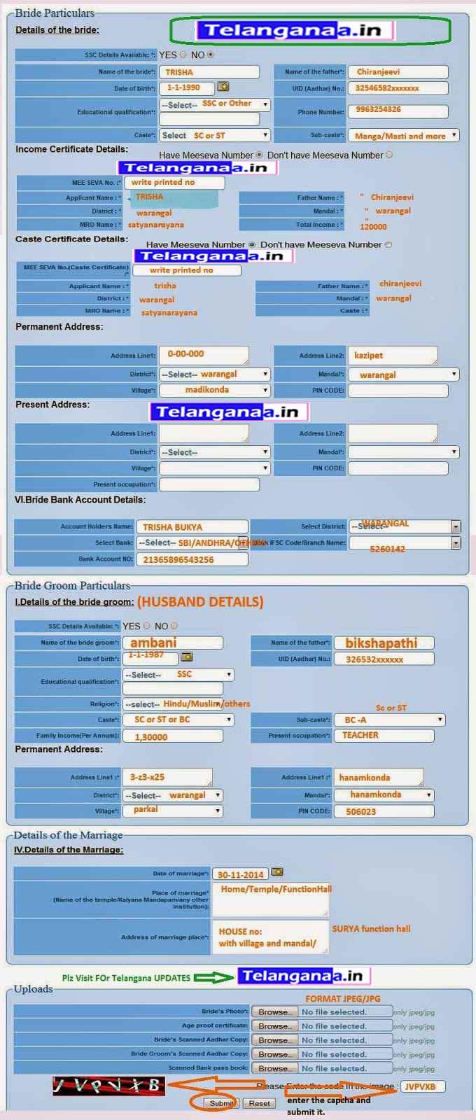 How to Apply Kalyana Lakshmi Pathakam Online Apply