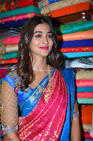 Puja Hegde looks stunning in Red saree at launch of Anutex shopping mall ~ Celebrities Galleries 074.JPG