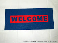 Cushion Mat Welcome 120cm x 55cm