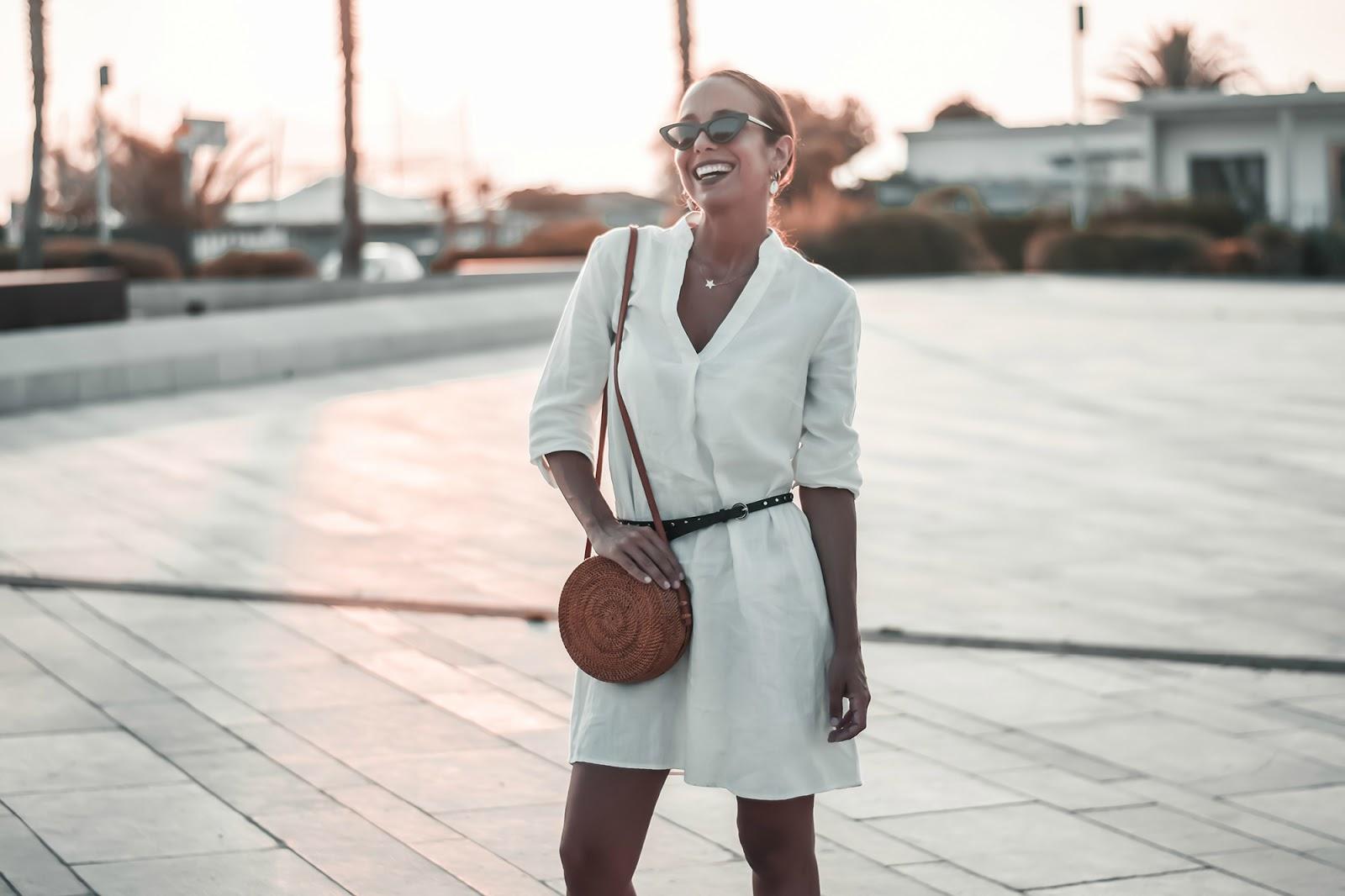 tunica bianca semplice