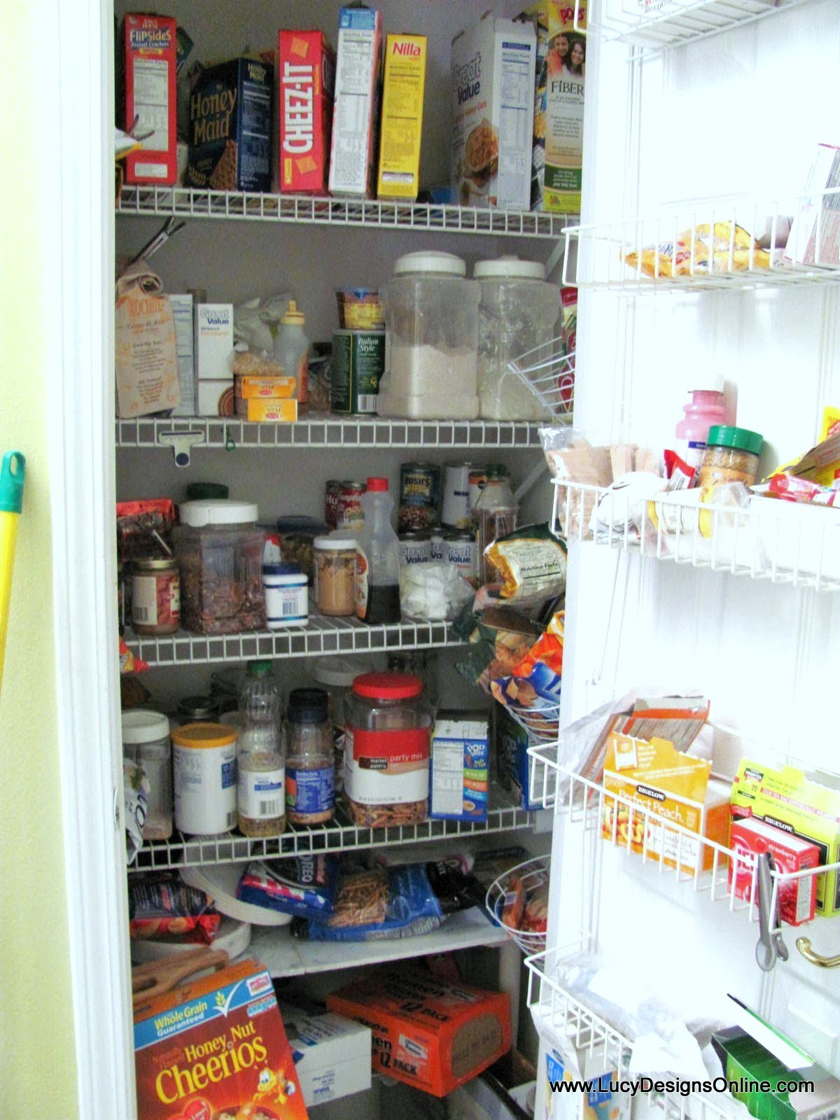 kitchen pantry makeover diy installing wood wrap around shelving to rh lucydesignsonline com