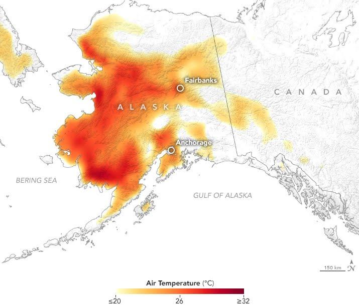 Alaska registra storica ondata di caldo