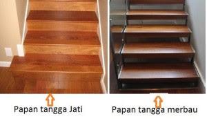 Harga papan tangga kayu Jati dan kayu Merbau
