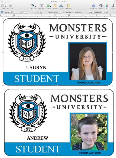 DIY Disney Monsters University Plastic Photo ID Cards - Make Life ...