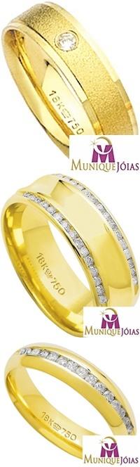 Alianças de Casamento e Noivado em Ouro 18K JoiasBrasil - comprar alianças  de ouro 18k 2cbcb65a97