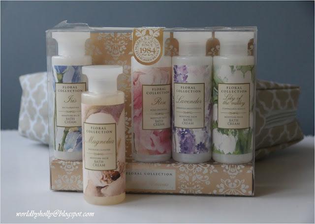 Kosmetyki Marks&Spencer. Kosmetyki z róży. Kosmetyki z lawendy. Kosmetyki z magnolii.