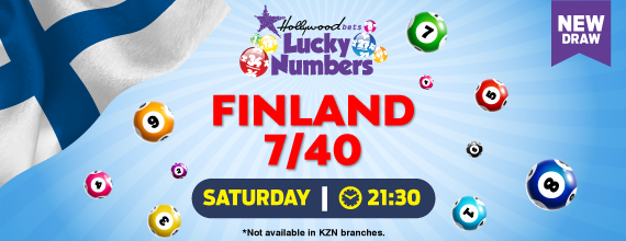 Finland 7/40 - Lucky Numbers - Lotto Draw - Hollywoodbets