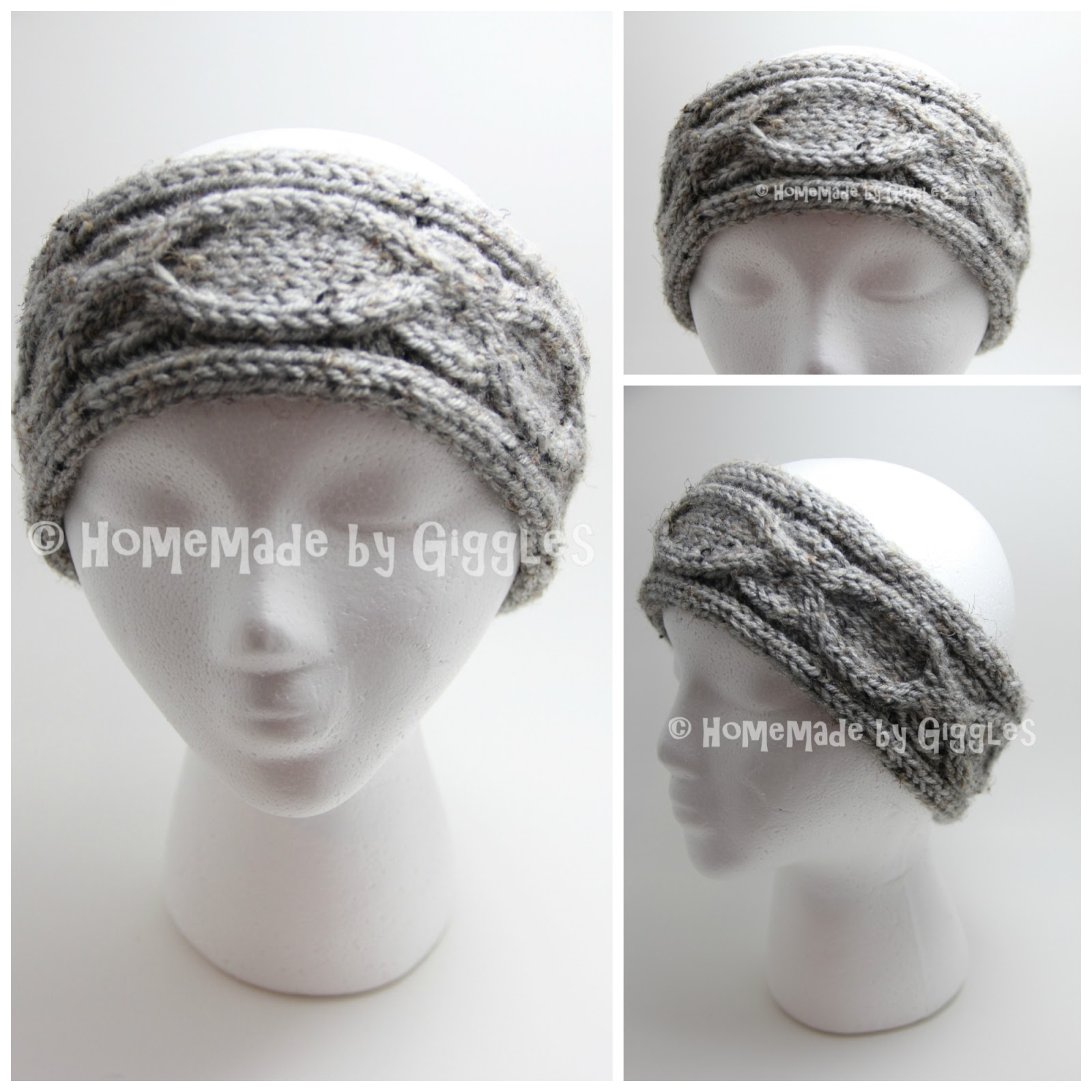 Homemade by Giggles: Twisted and Chain Cable Headbands - FREE Knit ...
