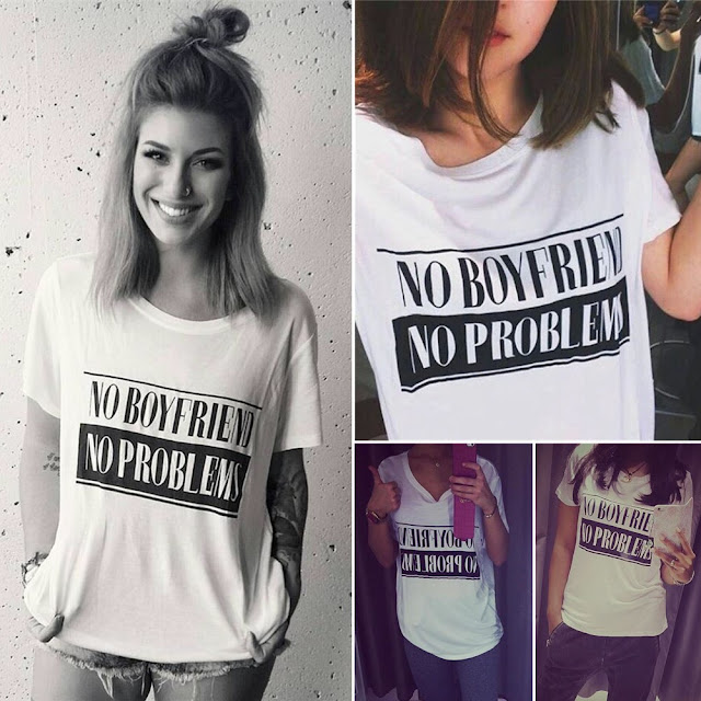 NO BOYFRIEND NO PROBLEMS T-Shirt. PYGear.com