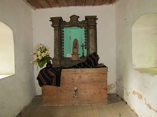 Wnętrze kaplicy.