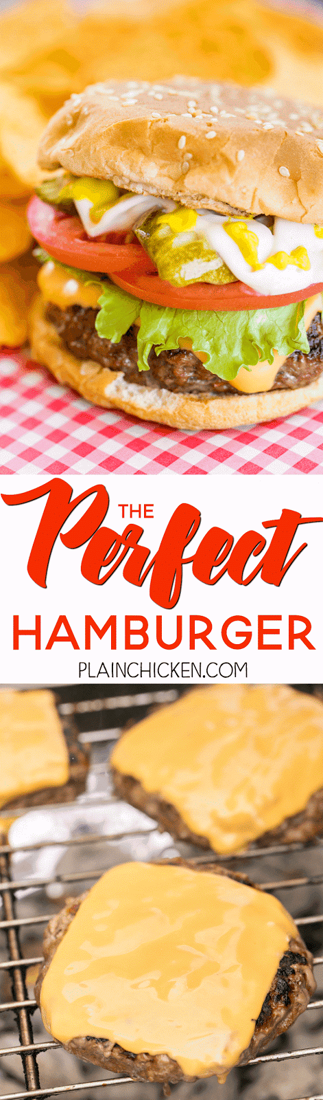 The Perfect Hamburger - look no further! The recipe for the Perfect Hamburger is right here!! We ate these 3 days in one week! SO good!!! Hamburger, egg, chili sauce, horseradish, onion, Worcestershire sauce. Top with your favorite toppings - cheese, lettuce, tomatoes, pickles. Great for a crowd. Can make patties ahead of time and freezer for later. Simply THE BEST!