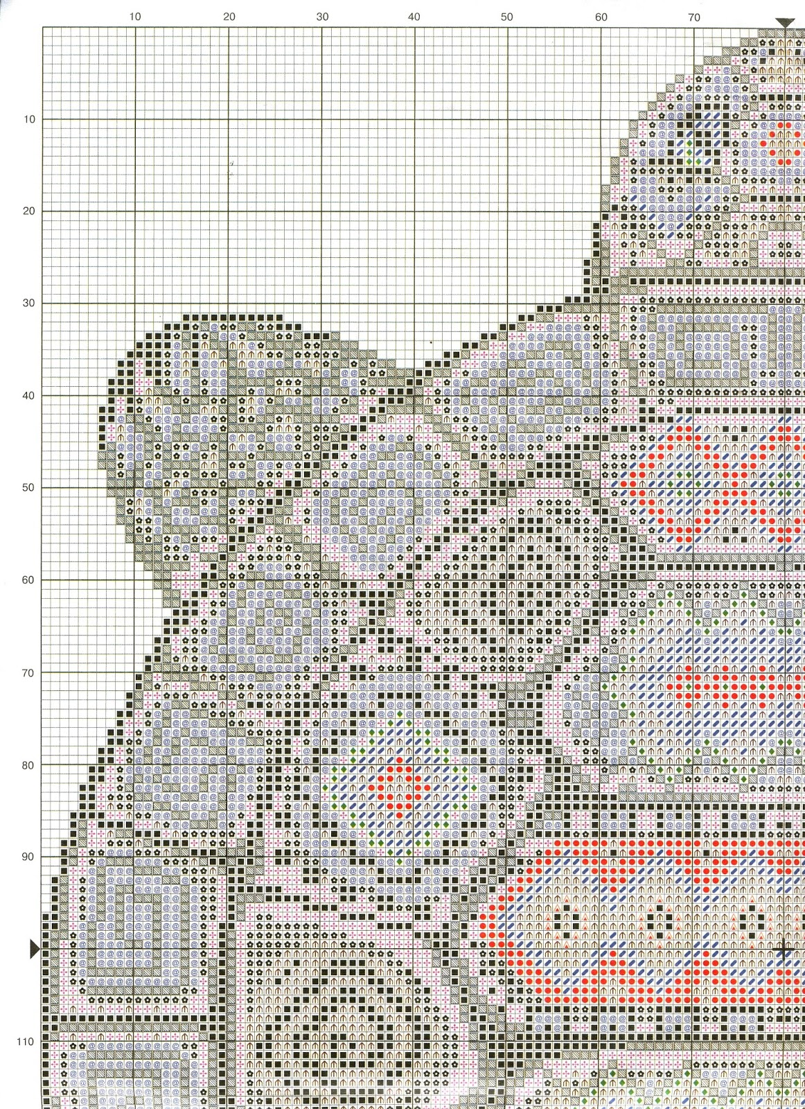 авторские схемы вышивки подушек