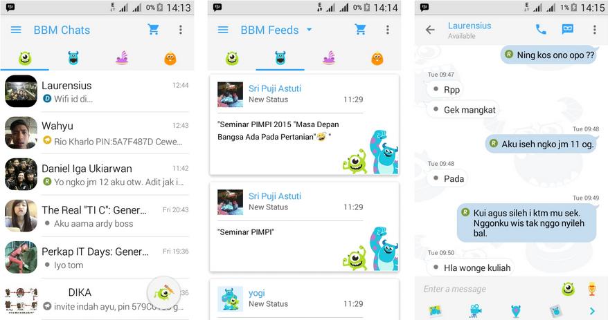BBM MOD Monster Inc BBM 2.9.0.51