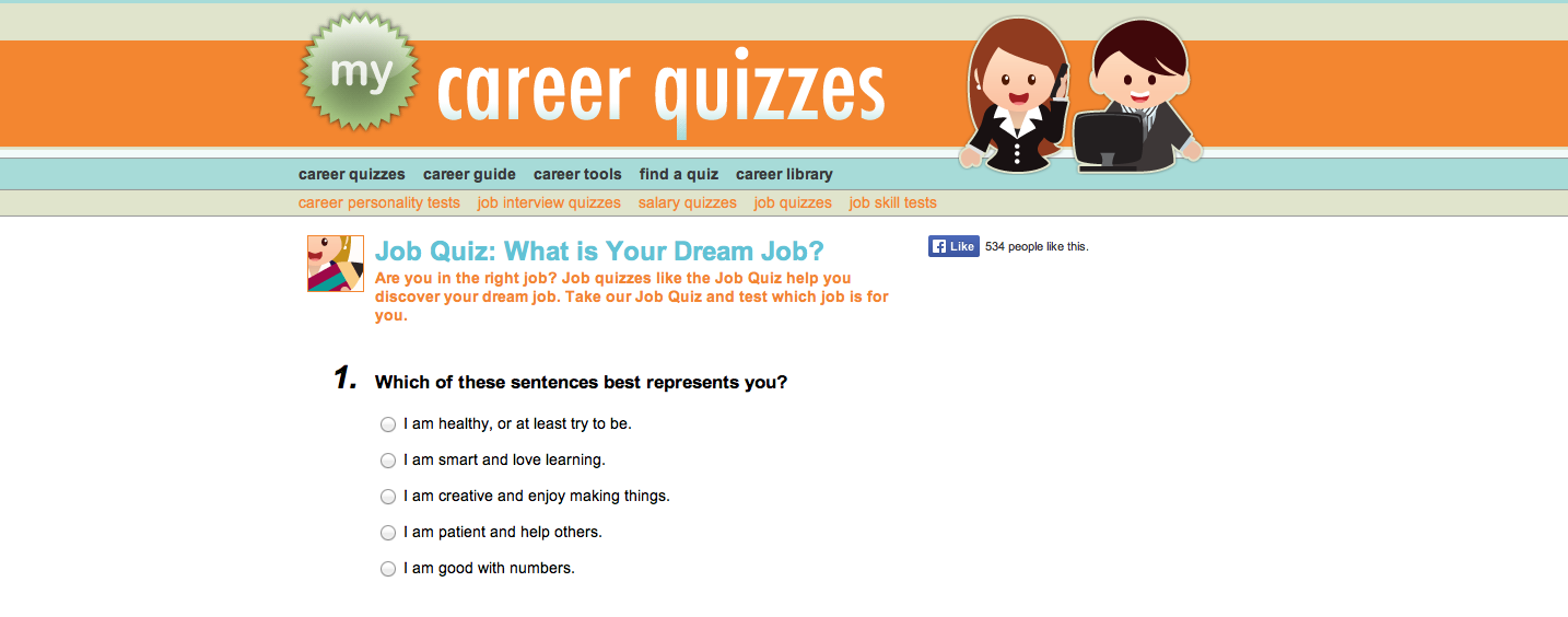 Job Quiz: What is Your Dream Job?