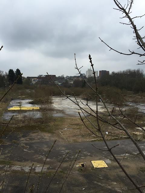 Derelict land, New Barnet, London
