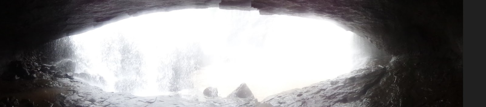 Kataldhar waterfall caves panoramic view