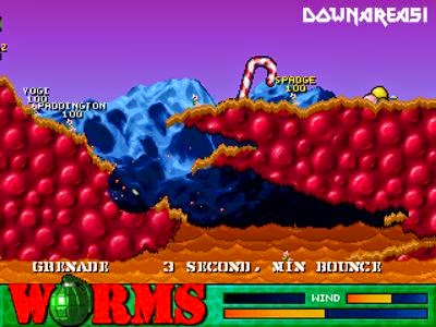Worms PSX Game