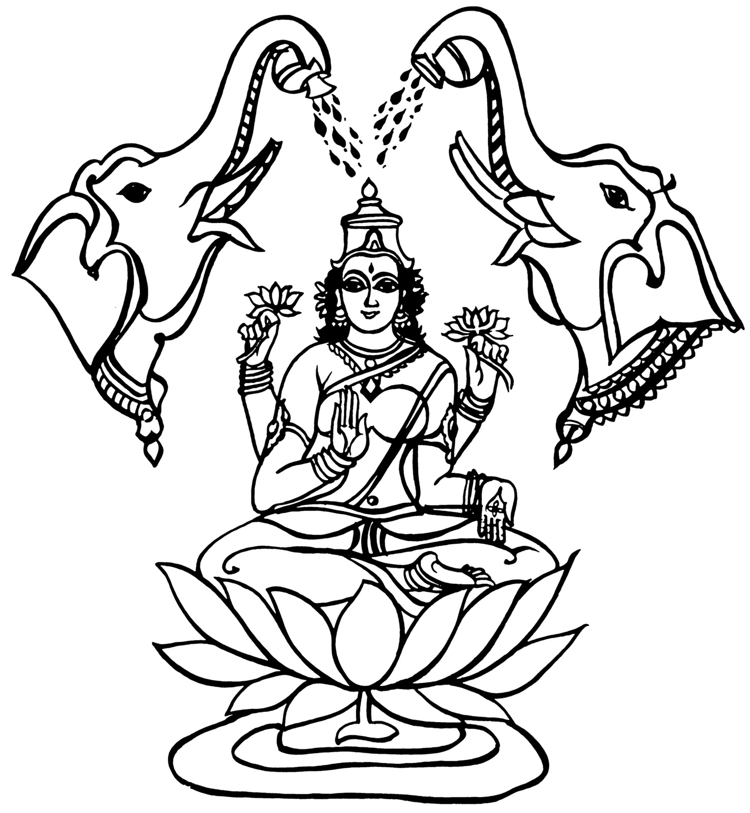 lakshmi coloring pages lakshmi coloring coloring pages