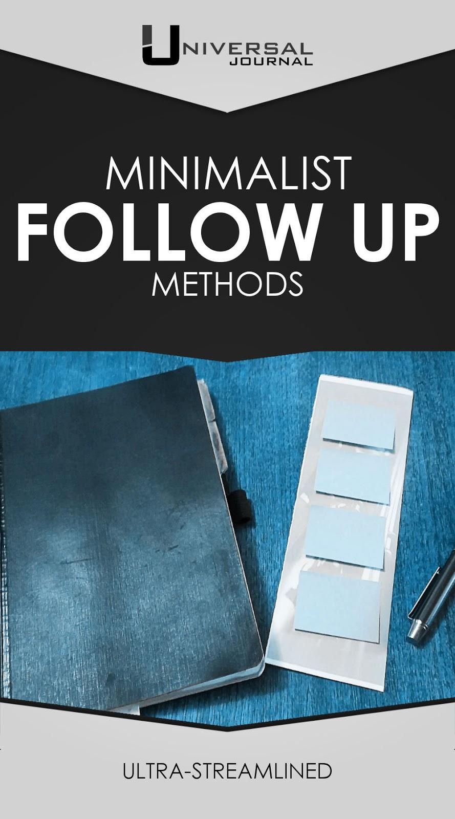minimalist follow up methods for bullet journal